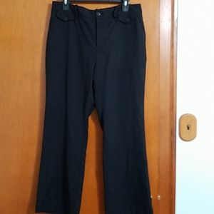 EUC A New Day size 12 stretch black ankle pants